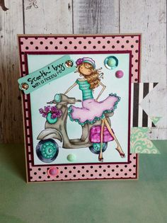Stamping Bella Uptown Girls Scootin by to by TrinityRoseDesigns29, $5.00