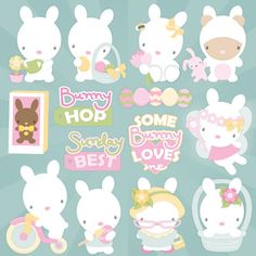 Spring Bunnies SVG Collection - $6.99 : SVG Files for Silhouette, Sizzix, Sure Cuts A Lot and Make-The-Cut - SVGCuts.com