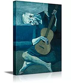 """Wall26 The Old Guitarist by Pablo Picasso - Canvas Wall Art Famous Fine Art Reproduction