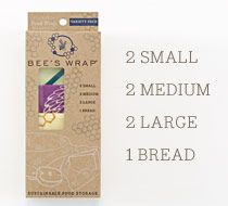 Meet the comprehensive Bee's Wrap kit, with a wrap for every job in the kitchen.