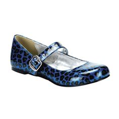 HowCool.com - Pleaser Shoes DAISY-04 - $31.95 - Glitter Leopard / Cheetah Print Mary Jane Shoes with Flat Heel