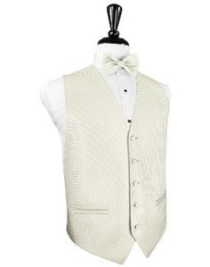 Ivory Venetian - Our most popular vest/tie for grooms when the bride is wearing ivory or off-white! $54.99 to purchase! On sale now - Call (678) 401-4999 http://kingtuxrentals.com