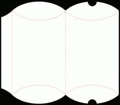 File formats included are: ai, dxf, GSD, pdf & svg @ birdscards.com Pillow Box