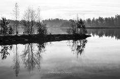 Nordic reflections by Maurizio Di Renzo on Winter Time, Reflection, River, Mountains, Black And White, Nature, Outdoor, Outdoors, Naturaleza