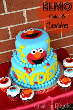 My Creative Way: Elmo Cake and Cupcakes {Sweet Friday} Ideas for judson birthday cake