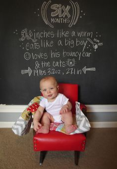 I like the chance for baby to have different poses, plus updates via chalkboard of what they're doing now. | jdavissquared
