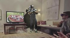 Microsoft has been teasing us glimpses of its HoloLens augmented reality headset. And its conception of what watching football will become seems really cool — and really, really overwhelming.