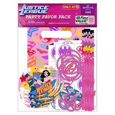 Justice League Girl Birthday Party Supplies Set Plates & Napkins ...