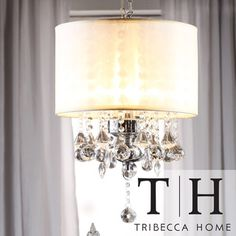 TRIBECCA HOME Silver Mist Crystal Chandelier | Overstock.com Shopping - Great Deals on Tribecca Home Chandeliers & Pendants