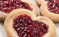 Cookies with jam Jam Cookies, Cranberry Cookies, Greek Recipes, Amazing Cakes, Oreo, Biscuits, Cheesecake, Food And Drink, Cooking Recipes
