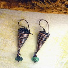 Earrings tutorial from Sharilyn Miller.  Easy with the right tools.  #Wire #Jewelry #Tutorials