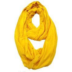 Le Nom Basic Infinity Scarf (610 RUB) ❤ liked on Polyvore featuring yellow
