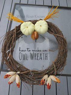 Spooky Owl Wreath for Halloween
