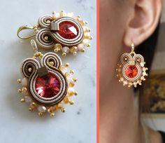 Soutache Earrings Handmade Earrings Hand Embroidered by LaviBijoux