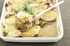 The crispness of the potatoes plays with the succulent lamb to create a winning meal.