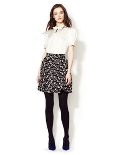 Alice Embroidered Floral Skirt by Jill Stuart at Gilt