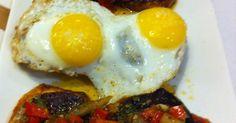 Morcilla and Quails eggs meson de Cerventes