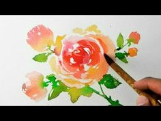 Watercolor Painting - Roses - Jay Art - YouTube
