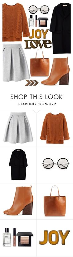 """""""Untitled #365"""" by norhenbijaoiu ❤ liked on Polyvore featuring Miss Selfridge, WithChic, Marni, Tory Burch, Madewell, Bobbi Brown Cosmetics and WALL"""