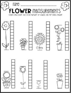 Spring Math and Literacy Printables and Worksheets for Pre-K and Kindergarten If you are like me, you are scrambling to find fun and engaging spring activities that help build skills in the areas of ELA and… Measurement Kindergarten, Measurement Worksheets, Kindergarten Math Worksheets, Teaching Math, Counting Worksheet, Kindergarten Rocks, Pre K Math Worksheets, Handwriting Worksheets, Preschool Literacy