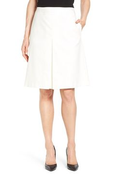 Vince Camuto Pleat Front A-Line Skirt (Regular & Petite) available at #Nordstrom
