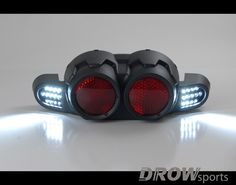 DCR Yamaha Zuma 125 Tail Light Cover LED Turn Signals www.drowsports.com