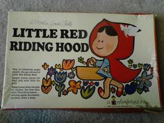 Vintage Little Red Riding Hood Colorforms Toy 1964 261 #Colorforms