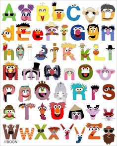Sesame Street Alphabet.  I need this for Jaden's room!