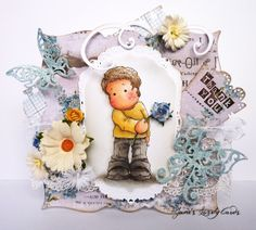 Jane's Lovely Cards : Ribbon Girl DT - Magnolia Only - Lace - stamp from magnoliastamps.us