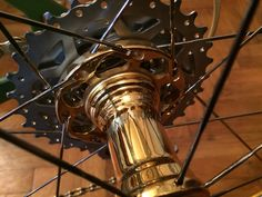 Veloboo gold Gold plated hub Gold Gold, Plating, Bike, Luxury, Bicycle Kick, Trial Bike, Bicycle