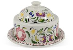 Portmerion Cheese Dish & Cover