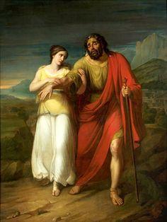 Oedipus and Antigone by Aleksander Kokular (1825-1828), National Museum in Warsaw.