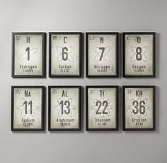 Cute idea!  My child will be a nerd though.... :)  Periodic Elements | Art | Restoration Hardware Baby & Child