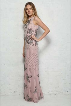 3caff4115ff7 Pink Embellished Maxi Dress Evening Dresses, Evening Gowns Dresses, Robes  De Soiree, Evening
