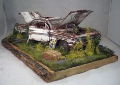1961 Chevy Impala Chevrolet Barn Find Weathered Pro Built Diorama 1/18 Diecast…