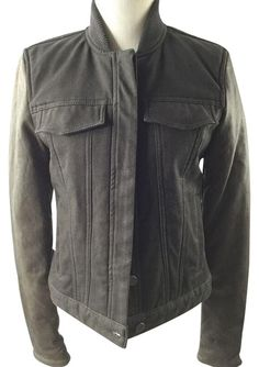 T by Alexander Wang Bomber Gray/Olive Jacket - 84% Off Retail