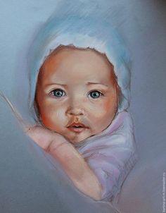 Рисуем пастелью: чудесный портрет малыша - Ярмарка Мастеров - ручная работа, handmade