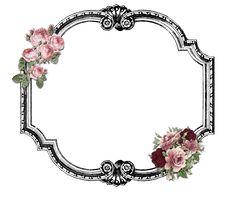 Printable frame roses