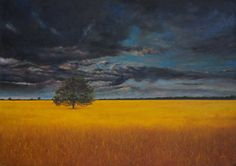 """Steve Smith  The Lonely Tree  Original - Oil  20"""" x 14"""" £995 or £99.50 Interest Free Credit spread over 10 months"""
