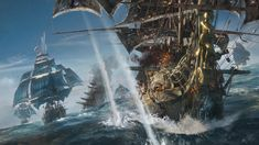 Ubisoft revealed a brand-new IP featuring pirates with their new game set on the open seas. Set sail with Skull and Bones!