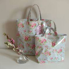 Shopping bags  Cath Kidston oilcloth...love mine...totally great bag.