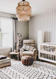 Our Favourite Herringbone Wallpaper Nursery Interiors