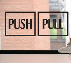 Push Pull Decal Push Sign Pull Sign Push by DesignsByTenisha