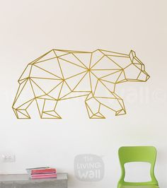 Geometrische Bär Wand Aufkleber. Aufkleber tragen von LivingWall