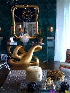 Baker Showroom on La Cienega Blvd., Los Angeles, decorated by Hutton Wilkinson, Tony Duquette Inc.