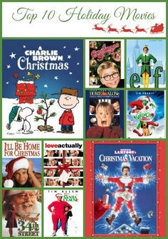 Top 10 holiday movies to enjoy with your family this Christmas season.