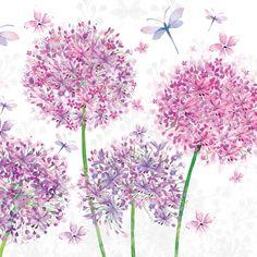 3438 Servilleta decorada flores