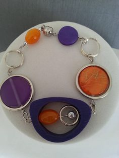 ASYMMETRICAL BRACELET Orange bracelet Purple bracelet Red Necklace, Collar Necklace, Earrings, Funky Jewelry, Wire Jewelry, Cardboard Jewelry Boxes, Wire Wrapped Necklace, Free Gifts, Bracelets