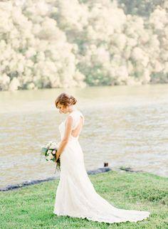 Rustic Elegant Fall Lakeside Wedding - http://www.stylemepretty.com/2015/01/20/rustic-elegant-fall-lakeside-wedding/