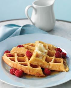 Donn's Waffles - Hands down Hubby and my favorite waffles!  I saw this in a magazine a few years ago and now they are the only waffles we ever make.  They are light, cloud-like, and a little crispy.  I add 1tsp of orange extract to the batter and we eat them plain.